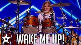 Kid Drummer Plays Avicii - Wake Me Up on ČESKO SLOVENSKO MÁ TALENT   Got Talent Global