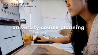 ubc course planning tips | get ready with me + q&a