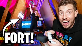 HIDDEN ATTIC GAMING FORT! *PS5*