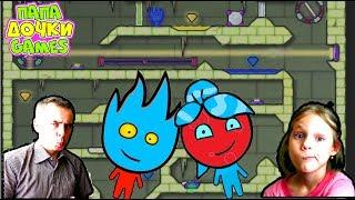 ПРИКЛЮЧЕНИЯ ОГОНЬ и ВОДА в Ледяном храме #5. Развлекательное видео для детей. Игровой мультик