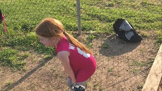 SOFTBALL: OLIVIA VOMITS TWICE, REFUSES TO LEAVE THE GAME