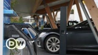 Padaria alemã oferece recarga para carro elétrico