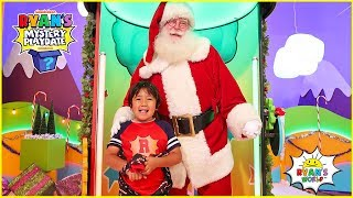 Santa Claus Surprise Ryan on Ryan's Mystery playdate Holiday Special Episode!!!!