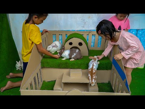 , title : 'How To Make Rabbit House From Cardboard