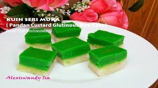 KUIH SERI MUKA  ( Pandan Custard Glutinous Rice Cake ) Resepi Chef Alexiswandy