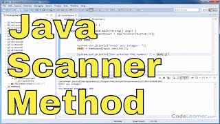 Java Tutorial - 03 - Read Integers and Doubles from Keyboard with Scanner