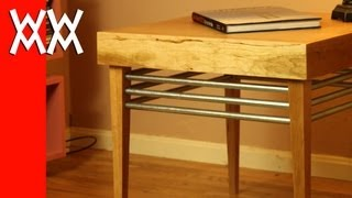 Build A Wood And Steel End Table