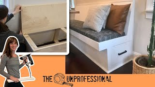 DIY Banquette Bench/ Bench Seating With Storage