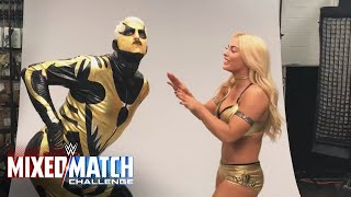 Goldust & Mandy Rose goof around in WWE Mixed Match Challenge photoshoot