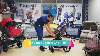 Lorelli Lumina Set 3in1 multifunkciós Babakocsi mózessé alakítható sport résszel #szürke 2018