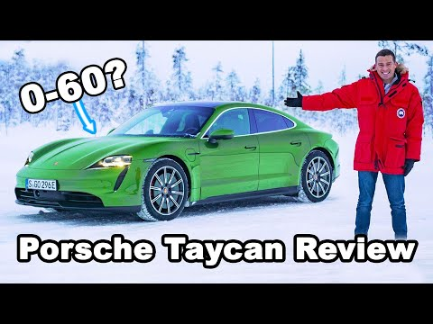 Porsche Taycan 4S & Turbo S review: launched, snow-drifted, range and TOILET tested!?!