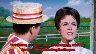 Supercalifragilisticexpialidocious Lyrics - Mary Poppins