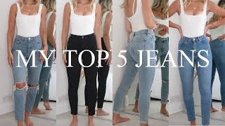 TOP 5 MOST FLATTERING DENIM JEANS | ASOS, TOPSHOP, HOLLISTER