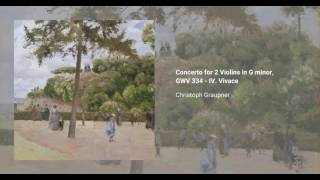 Concerto for 2 Violins in G minor, GWV 334