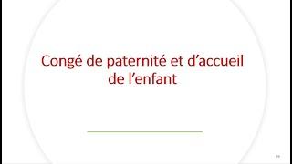 Replay Réunion actualité mai 2021 – Congé de paternité et d'accueil de l'enfant