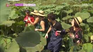 룸메이트 시즌2 141019 잭슨이와 연잎 따기 ~ ㅋㅋㅋ 농촌에서 하이패션 ㅋㅋㅋ