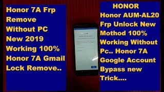 Honor 7a | 7x | 9n | 9 lite FRP Lock Bypass Without PC And