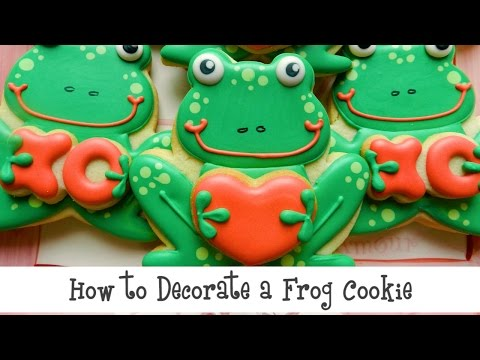 How to Decorate a Frog Cookie