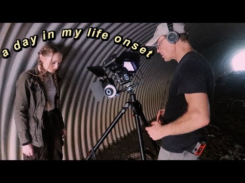 a day in my life as an actress filming onset vlog