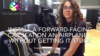 Don't get a Forward-facing Car Seat Stuck on a Plane!