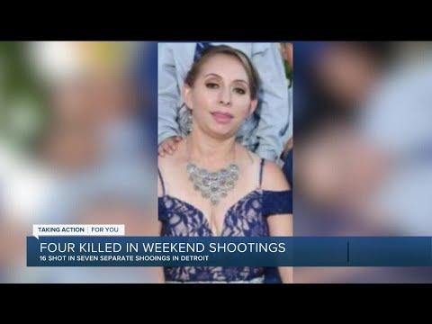 Four killed in weekend shootings