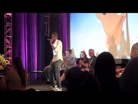 Tevin Campbell, the voice behind Powerline in Disney's Goofy Movie, blesses the crowed with the voice of their childhood at their 20th anniversary expo - 2015
