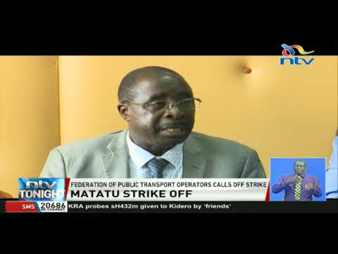 Federation of public transportation operators calls off matatu strike