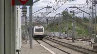 preview picture of video 'Renfe 253.019 con portacoches por Valdemoro'
