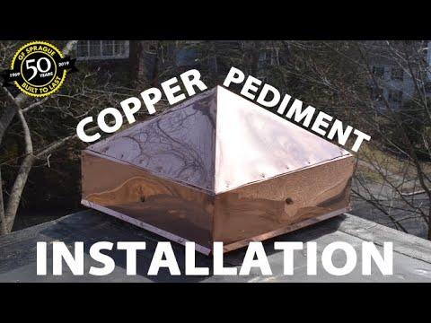 Copper Pediment Installation in Newton, MA