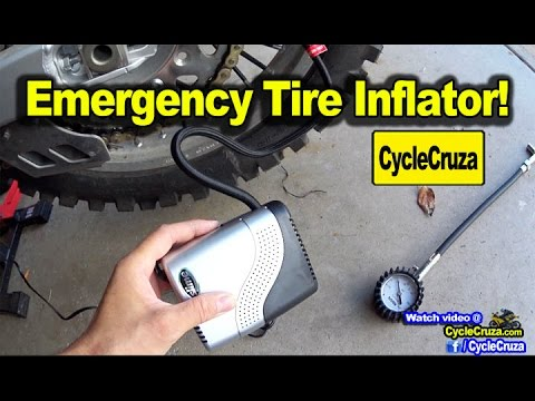 Small Portable Motorcycle Tire Inflator Review – Adjust Tire Pressure out Riding!