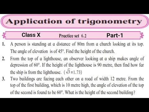 Application of Trigonometry Class 10 Maharashtra Board SSC