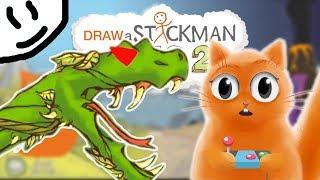 УБЕГАЕМ ОТ ЗЛОЙ ГОЛОДНОЙ ЗМЕИ в игре СТИКМЕН Draw a Stickman EPIC 2 КОТ ДЖЕМ играет детский летсплей