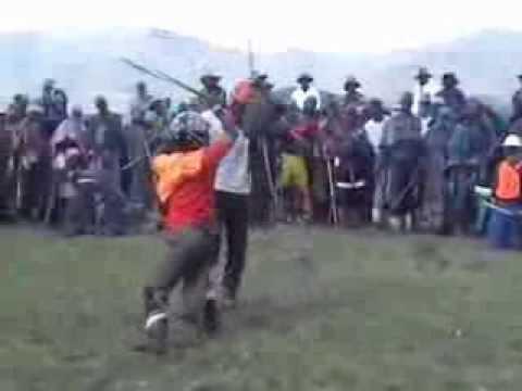 Qwaqwa men stick fight