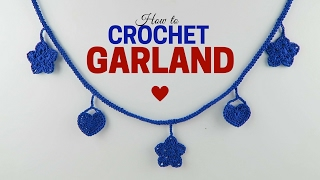 Crochet Tutorial For Absolute Beginners: How To Make A Garland / Bunting