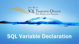 SQL Variable Declaration - How to Declare a Variable in SQL Server - SQL Training Online