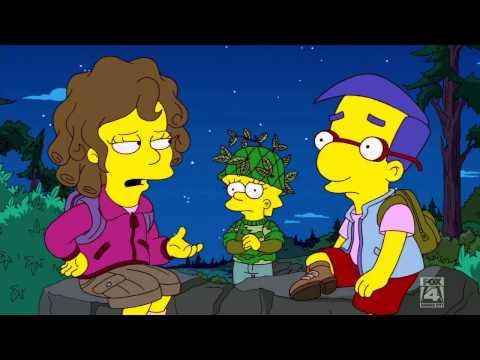 Lisa kisses Milhouse