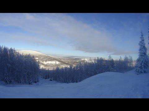 Видео: Видео горнолыжного курорта Крестовая Гора (Кандалакша) в Мурманская область