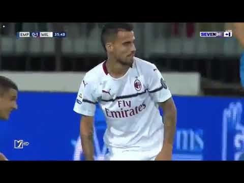 AC Milan Vs Empoli 1 ~ 1 Höjdpunkter och alla mål 2018 HD