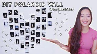 POLAROID PICTURE IDEAS TO DIY POLAROID WALL | FUJIFILM INSTAX MINI 9 | BUILDING A POLAROID WALL