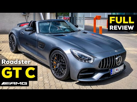 MERCEDES AMG GT C Roadster V8 Full Review BRUTAL Sound Interior Exterior Infotainment Selenite