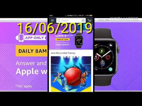 Amazon Win An Apple watch Quiz Contest Answers [16th June 2019, 8 AM To 12 PM]