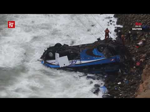 Bus careens off cliff in Peru, at least 36 killed