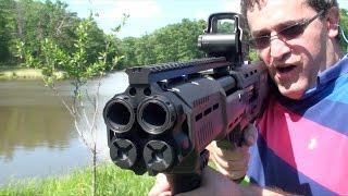 DP 12, Escopeta de Alta Capacidad con Doble Cañon, en Español