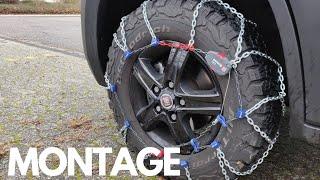 Schneeketten Montage am Kastenwagen - Wohnmobil - PEWAG RSV 80