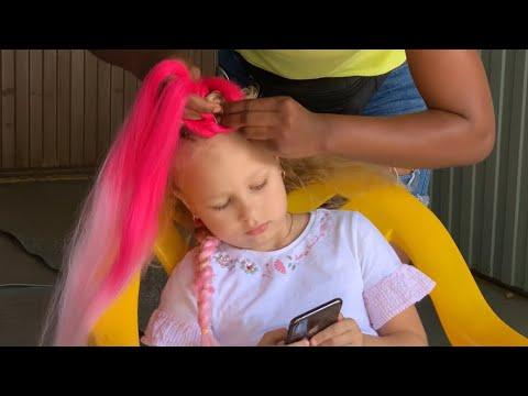Алиса ЗАПЛЕЛА Косички !!! Детский ВЛОГ про игрушки и покупки