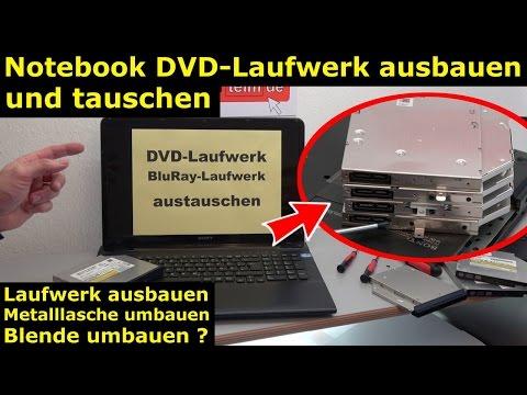 Notebook DVD Laufwerk oder BluRay ausbauen und wechseln - [4K Video]