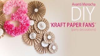 DIY Kraft Paper Fans Backdrop / Abanicos De Papel ( Party Decoration - Decoracion De Fiestas)