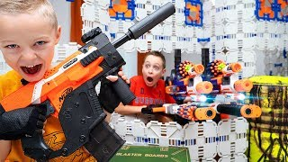 NERF Sneaky Ambush FAILED (or did it?) GIANT NERF Fort vs Sneaky Brother