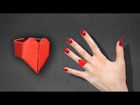 Anillo de papel en forma de Corazón - REGALO de san valentin (Audio ESpañol)
