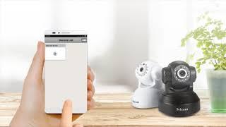 Sricam indoor IP Camera WiFi setup tutorial